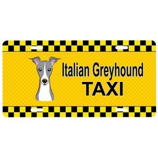 Italian Greyhound License Plate - Taxi