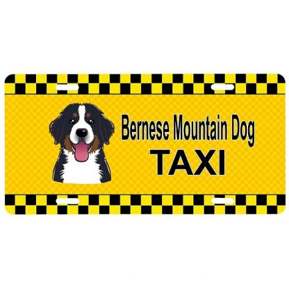 Bernese Mountain Dog License Plate - Taxi