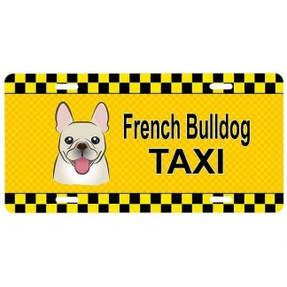 French Bulldog License Plate - Taxi II