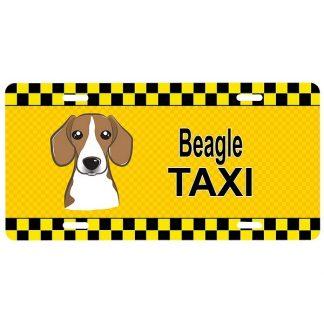 Beagle License Plate - Taxi