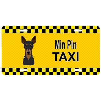 Miniature Pinscher License Plate - Taxi