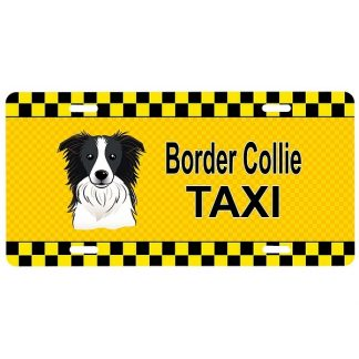 Border Collie License Plate - Taxi