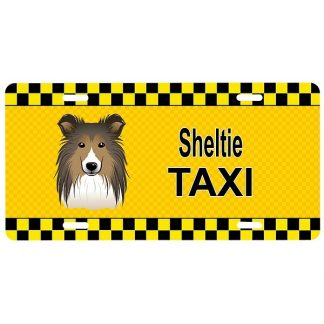 Shetland Sheepdog License Plate - Taxi