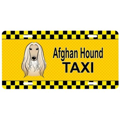 Afghan Hound License Plate - Taxi