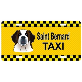 Saint Bernard License Plate - Taxi