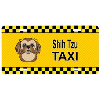 Shih Tzu License Plate - Taxi (Brown)