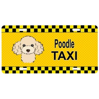 Apricot Poodle License Plate - Taxi
