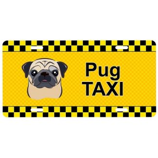 Pug License Plate - Taxi