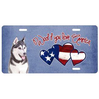 Alaskan Malamute License Plate - Woof