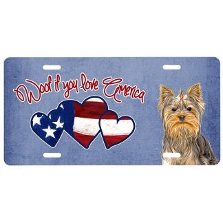 Yorkshire Terrier License Plate - Woof