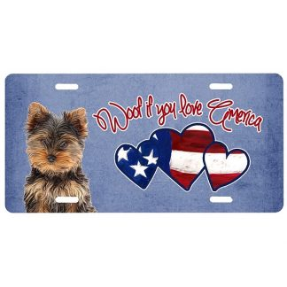 Yorkshire Terrier License Plate - Woof II