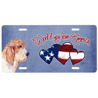 PBGV License Plate - Woof