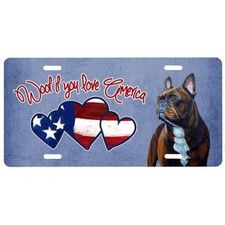 French Bulldog License Plate - Woof