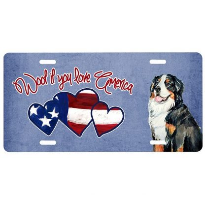Bernese Mountain Dog License Plate - Woof