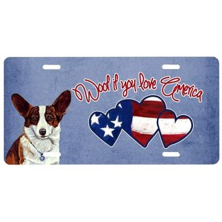 Corgi License Plate - Woof
