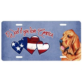 Bloodhound License Plate - Woof