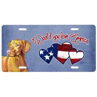 Vizsla License Plate - Woof