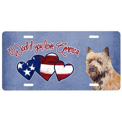 Cairn Terrier License Plate - Woof