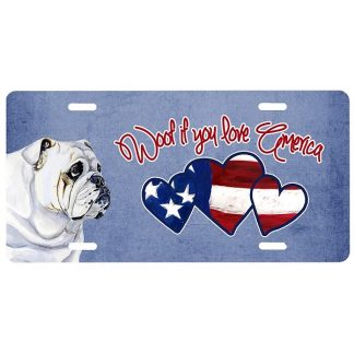 Bulldog License Plate - Woof II