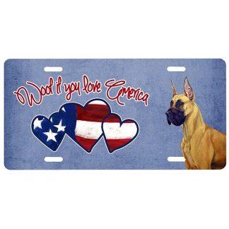 Great Dane License Plate - Woof II