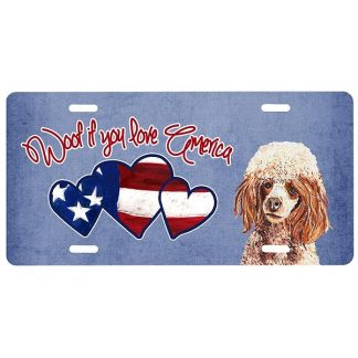 Apricot Poodle License Plate - Woof