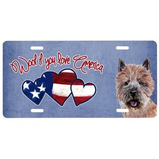 Norwich Terrier License Plate - Woof