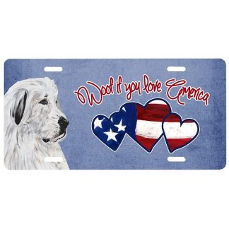 Great Pyrenees License Plate - Woof