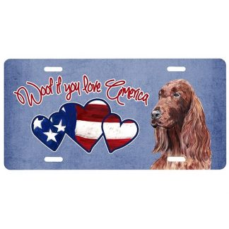 Irish Setter License Plate - Woof II