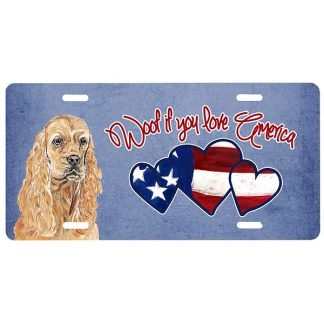 Cocker Spaniel License Plate - Woof II