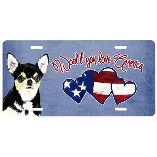 Chihuahua License Plate - Woof