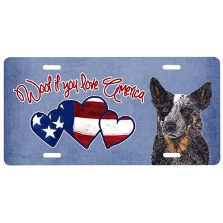 Australian Cattle Dog License Plate - Woof