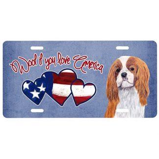 Cavalier Spaniel License Plate - Woof