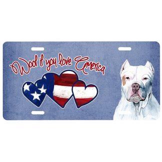 Pitbull Terrier License Plate - Woof