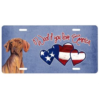 Vizsla License Plate - Woof II