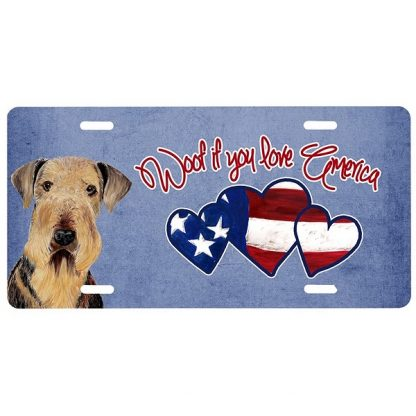Airedale Terrier License Plate - Woof II