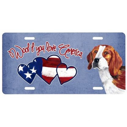 Beagle License Plate - Woof
