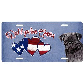 Pug License Plate - Woof III