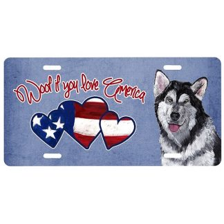 Alaskan Malamute License Plate - Woof II