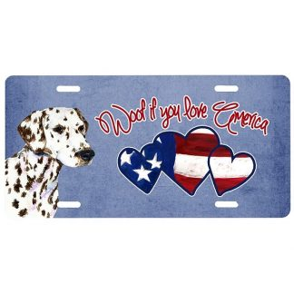 Dalmatian License Plate - Woof (Liver)