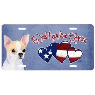 Chihuahua License Plate - Woof IV