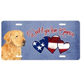 Golden Retriever License Plate - Woof