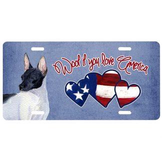 Rat Terrier License Plate - Woof