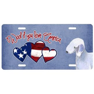 Bedlington Terrier License Plate - Woof