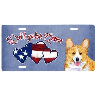 Corgi License Plate - Woof II