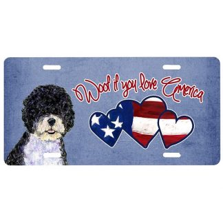 Portuguese Water Dog License Plate - Woof