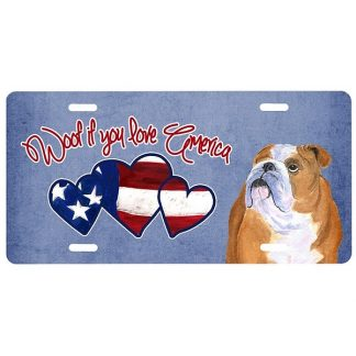 Bulldog License Plate - Woof
