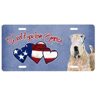 Soft Coated Wheaten License Plate - Woof