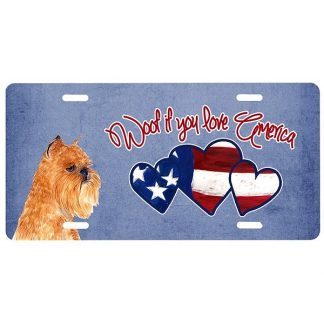 Brussels Griffon License Plate - Woof III