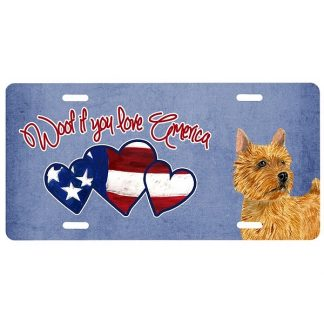 Norwich Terrier License Plate - Woof II
