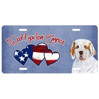 Clumber Spaniel License Plate - Woof